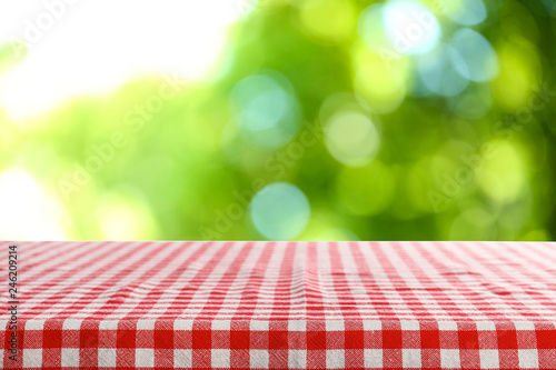 Deurstickers Picknick Beautiful green natural background