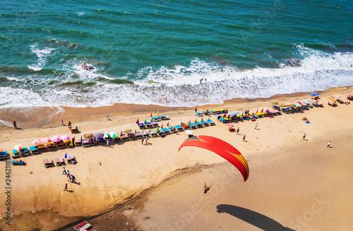 Fotografía top view of beach in Goa India vagator beach