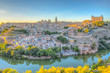 Sunset view of cityscape of Toledo, Spain
