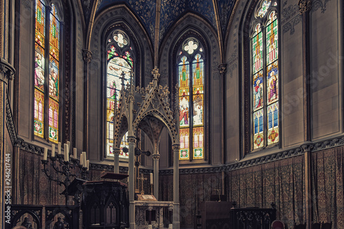 Chapel of the Hohenzollern castle in the Black Forest, Germany Fototapeta