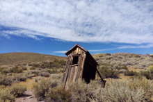 Old Toilet In Bodie State Historic Park, Bridgeport, California, USA.