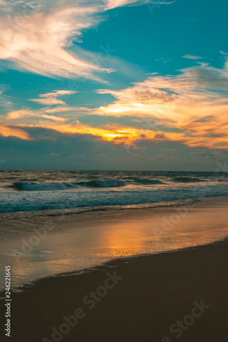 Printed kitchen splashbacks Cappuccino Beautiful sunset in Acapulco's beach