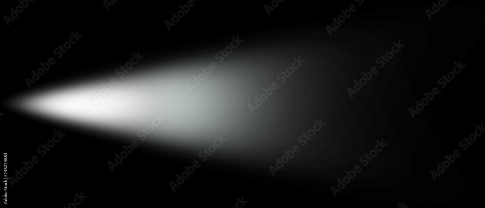 Fototapety, obrazy: Light Effect Spotlight. Spotlight Black and White Lighting. Light Effects. Isolated on black background. 3d illustration