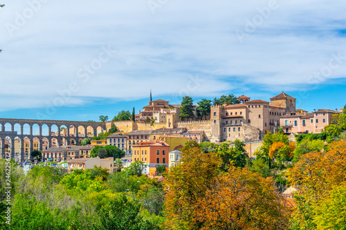 View of Segovia town in Spain Poster Mural XXL