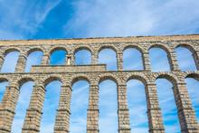 Detail Of Aqueduct At Segovia,...