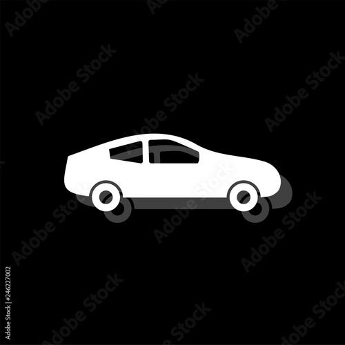 Fototapeta Car icon flat obraz na płótnie