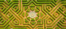 Aerial View Of A Symmetrical Garden