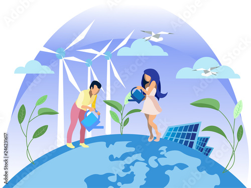 Clean Electric Energy Renewable Sources Ecology.