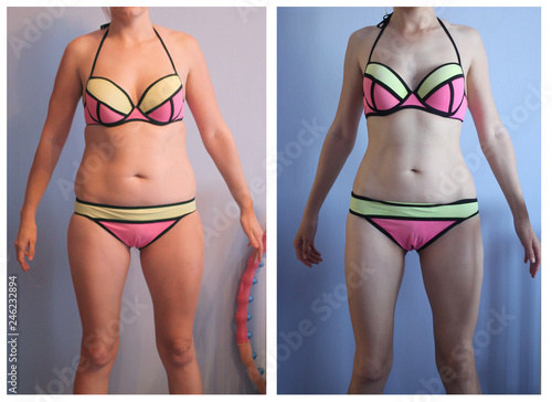 Photo woman s body before and after weight loss