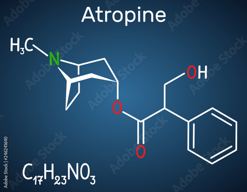 Photo Atropine drug molecule