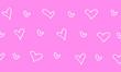 Leinwandbild Motiv Papel tapiz corazones