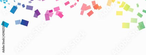Obraz confetti rainbow background - fototapety do salonu
