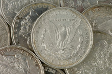Pile Of Silver Dollars
