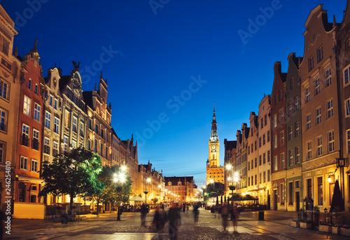 Fototapety, obrazy: Gdansk Dluga Street