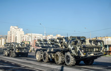 A Column Of Missile Military E...