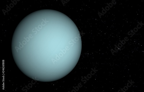 Fotografia  Solar System - Uranus. 3D illustration.
