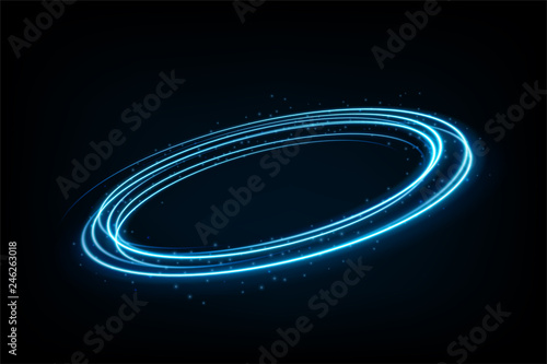 Photo  Round blue light twisted, Suitable for product advertising, product design, and other
