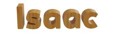 Isaac In 3d Name With Wooden T...
