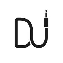 Isolated Dj Logo. Wire Cable A...