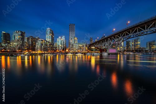 Spoed Foto op Canvas Stad gebouw skyline of vancouver