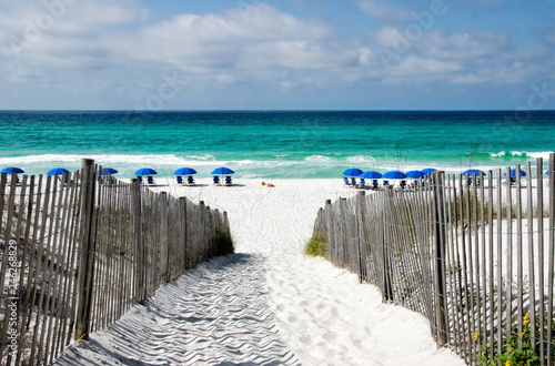 Fotobehang Kust Seaside Florida in Walton County along the Emerald Coast