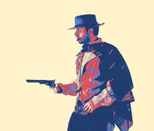 Gunslinger, Vintage Game Style.