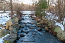Cold Water Streaming From Froz...