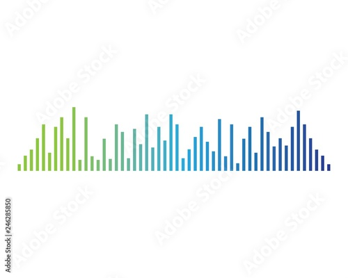 Photo  Sound wave symbol illustration
