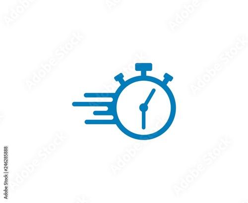 Cuadros en Lienzo Clock logo