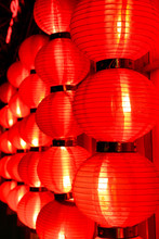 Glow Of Red Chinese Lanterns A...