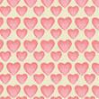 cute heart shape decoration background