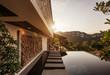 Leinwanddruck Bild - Private swimming pool near luxury villa. Sunny summer vacation