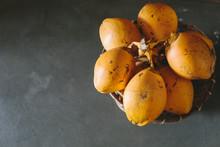 Yellow Orange Coconut On Grey ...