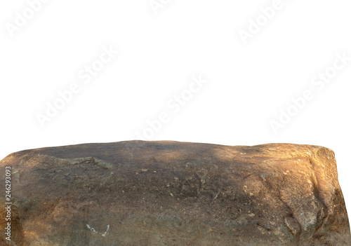 Foto  Cliff stone located part of the mountain rock isolated on white background