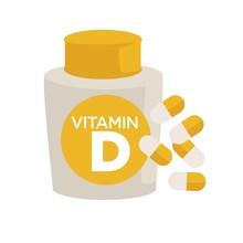 Vitamin D Bottle Healthy Food Supplements Or Pills