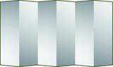 Silver folding screen