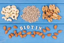 Nutritious Different Ingredients Containing Vitamin B7, Natural Minerals And Fiber, Healthy Nutrition