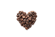 Heart Shape Of Roasted Coffee ...