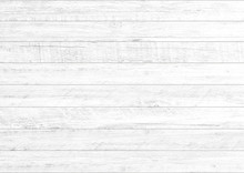 White Natural Wood Wall Background. Wood Pattern And Texture Background.
