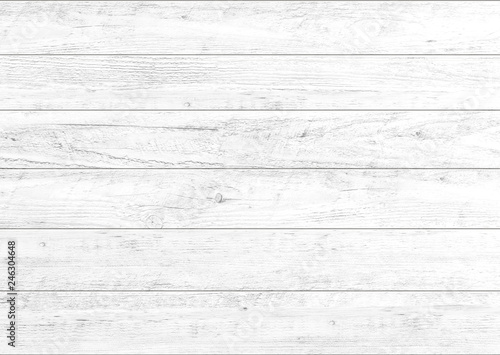 Poster Bois White natural wood wall background. Wood pattern and texture background.