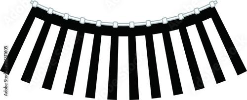 Spoed Foto op Canvas Licht, schaduw Black and white curtain