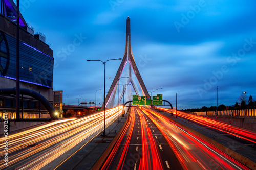 Photo  Bridge in Boston city