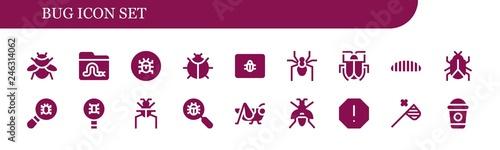 Fotografie, Tablou bug icon set