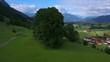 Aerial view of the landscape around the town of Schoellang near Oberstdorf, Allgau Alps, Allgau, Swabia, Bavaria, Germany, Europe