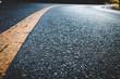 canvas print picture - Close up black asphalt road texture background.