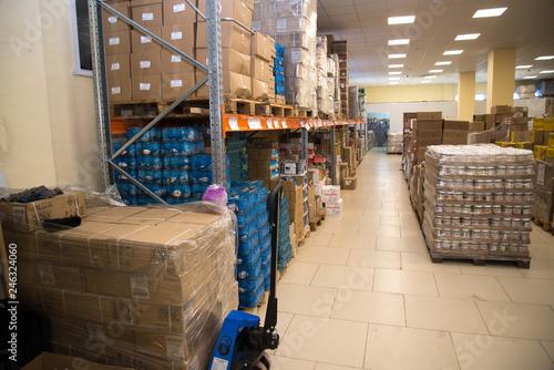 Fotografía  RUSSIA, URAL - JANUARY 2019, warehouse store Wholesale trade