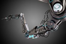 Robotic Arm 3d Illustration Is...
