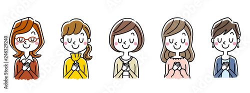 Fotografia  複数の女性:セット