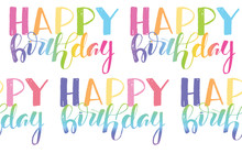 Happy Birthday Hand Drawn Doodle Pattern Background Texture Wallpaper Fabric