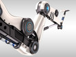 Robotic arm 3d illustration isolated on the background